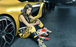 Picture auto, girl, racer
