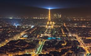 Picture light, night, the city, lights, France, Paris, Eiffel tower