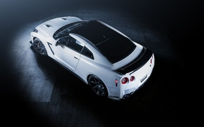 Picture GTR, Nissan, white, wheels, sports car, Nissan, front, stance