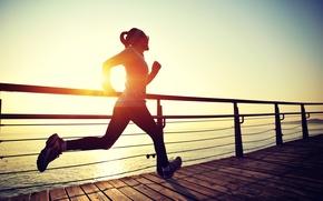 Picture evening, training, running, sportswear
