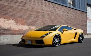 Picture yellow, gallardo, lamborghini, side view, yellow, windshield, Lamborghini, Gallardo, lp560-4, ablex