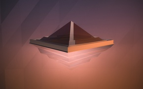 Picture abstraction, minimalism, minimal, abstract, pyramid, red, render, render, justandycat, maxon