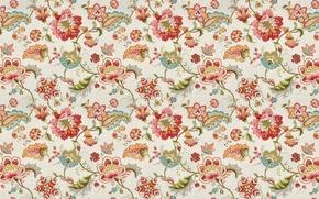 Picture flowers, background, texture, art, textiles