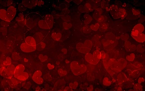 Wallpaper love, hearts, valentine's day