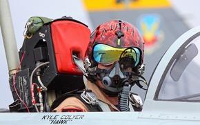 Picture male, pilot, the plane