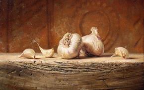 Picture macro, table, figure, picture, still life, reproduction, garlic, Kyle, Polzin
