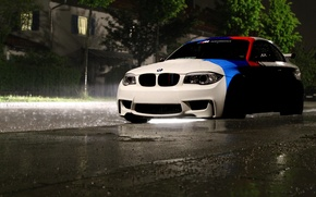 Picture BMW, light, rain, Coupe, night, front
