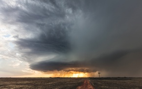 Picture the sky, clouds, USA, Oklahoma, Supercell