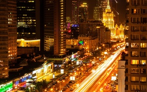 Picture night, Moscow, Russia, Russia, night, Moscow, New Arbat