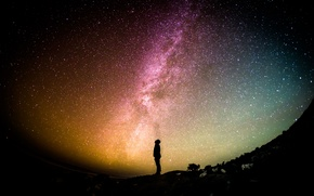 Picture the sky, stars, light, night, galaxy, galaxy