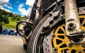 Picture the sky, engine, Motorcycle, disk, Suzuki, exhaust, Moto, brake, Brake, Bandit, Tokico, Shinko