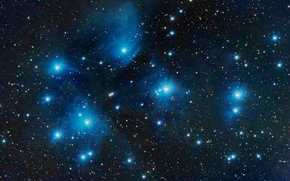 Picture space, stars, The Pleiades, star cluster, in the constellation of Taurus, M45