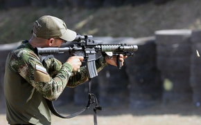 Picture weapons, Colombian National Training Center, Forces Command