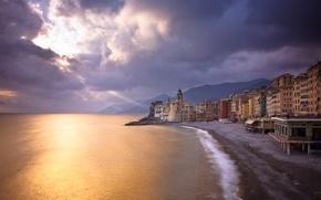 Picture sand, beach, landscape, the city, pebbles, shore, view, home