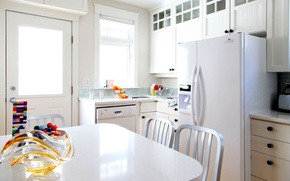 Picture white, table, room, furniture, color, interior, refrigerator, kitchen