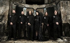 Picture metal, black, Italy, Lacuna Coil, BROKEN CROWN HALO