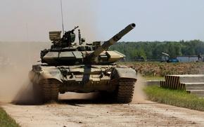 Wallpaper Russia, T-90, tank, military equipment