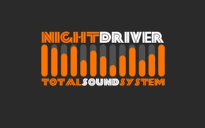 Picture electronic, sound, total, system, synth wave, night driver