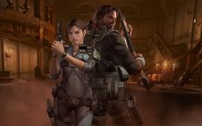Picture gun, weapons, shotgun, Resident Evil, team, Resident Evil: Revelations, Jill Valentine, Parker Luciani, Biohazard: Revelations