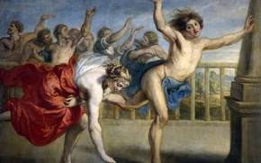 Picture picture, mythology, Jacob Peter Howie, Hippoman and Atalanta