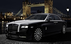 Picture car, rolls royce, london, ghost, tuning, onyx