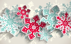 Picture snowflakes, background, patterns