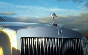 Picture the sky, Phantom, Rolls Royce, limousine, phantom, grille, the spirit of ecstasy, Spirit of Ecstasy, …