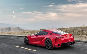 Picture desert, track, the concept, Toyota, FT-1