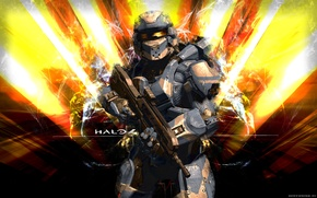 Picture soldiers, fighter, Spartan, spartan, Halo 4