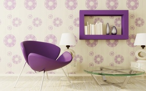 Picture purple, furniture, interior, chair, purple