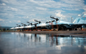 Picture fighters, the airfield, Russian, Su-30CM
