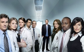 Wallpaper Dr. house, house m.d., Lisa Cuddy, Wilson, Cameron, chase, kutner, Forman, Gregory house, Taub, team ...