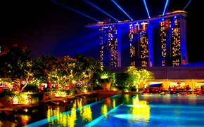 Picture night, Singapore, night, Singapore, Hotel Marina Bay Sands