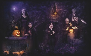Wallpaper HALLOWEEN, ADDAMS family, movie