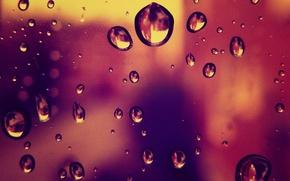 Wallpaper glass, window, picture, bright, Wallpaper, rain, color, photo, drops