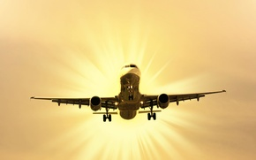 Picture the sky, the sun, the plane, the rise