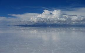 Picture water, nature, mirror, Bolivia, salt marsh, Uyuni, uyuni