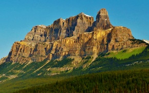 Picture the sky, trees, Canada, Albert, Castle Mountain, Castle hill