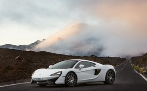 Picture white, McLaren, supercar, white, car, auto, 570GT