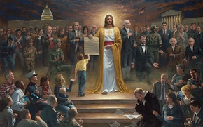 Picture God, picture, Americans, presidents, USA, faith, One Nation under God, nation
