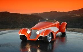 Wallpaper Orange, Large, Hot Road