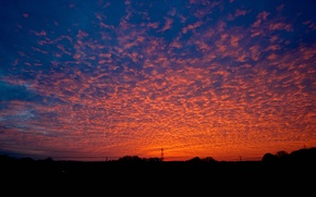 Picture the sky, clouds, sunset, glow