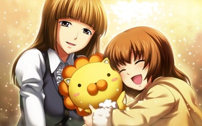 Wallpaper girl, joy, emotions, toy, Leo, girl, sparks, umineko no naku koro ni, ushiromiya maria, ushiromiya ...