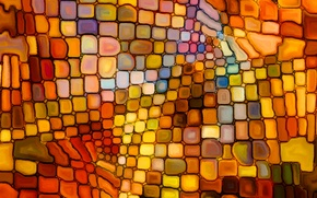 Picture mosaic, pattern, stained glass, colorful