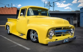 Picture retro, Ford, classic, pickup, pickup, 1956