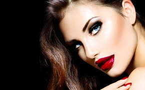 Picture sexy, brunette, look, makeup