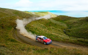 Picture Sea, Auto, Dust, Sport, Machine, Speed, Day, Hill, Citroen, WRC, Rally, Rally, Xsara