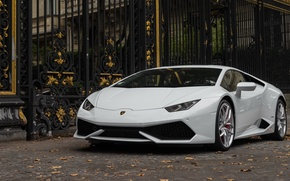 Picture Lamborghini, white, Hurricane