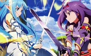 Picture sword, game, anime, pretty, asian, manga, pretty girl, japanese, Yuuki Asuna, Sword Art Online, oriental, …