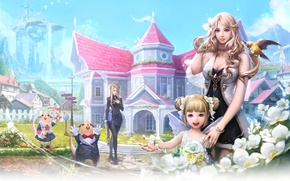 Picture Fantasy, game, Aion, anime